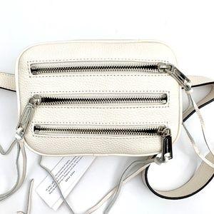 REBECCA MINKOFF | White Leather Belt Bag